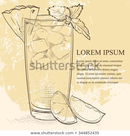koktél · rum · narancs · likőr · citrus · dzsúz - stock fotó © netkov1