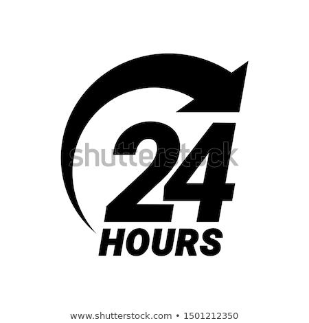 24 logo ikon üzlet munka idő Stock fotó © kiddaikiddee