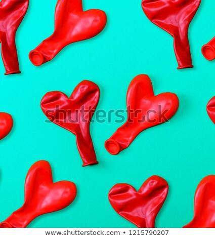 Kleurrijk partij ballonnen witte groep vreugde Stockfoto © dezign56