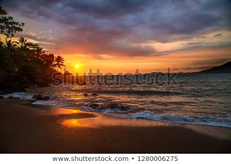 sunset in nosy be Stock photo © lkpro