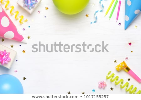 Birthday card with copy space - colorful design stock photo © LeonART