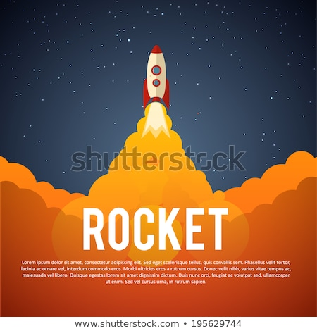 Rocket ship launch. EPS 10 Stock photo © beholdereye