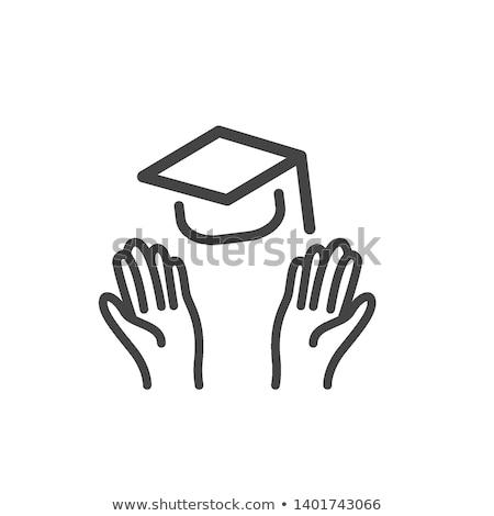 afgestudeerden · kleine · groep · kinderen · poseren · kinderen · school - stockfoto © rastudio