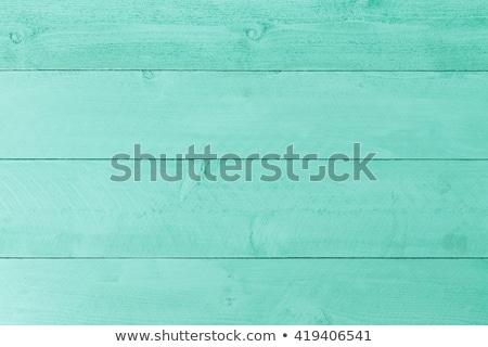 ストックフォト: Pastel Green Stained Wood Background Texture