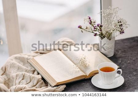 невеста · питьевой · чашку · кофе · кофе · ложку · женщину - Сток-фото © fisher