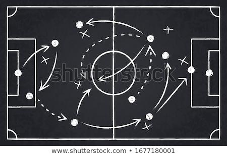 lección · fútbol · táctica · patrones · tiza - foto stock © ivelin