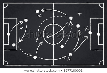 plano · bola · jogo · estratégia · tática · branco - foto stock © ivelin
