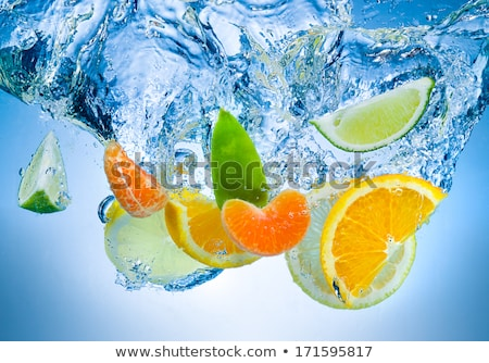 relevant · tranches · orange · blanche · isolé · alimentaire - photo stock © mady70