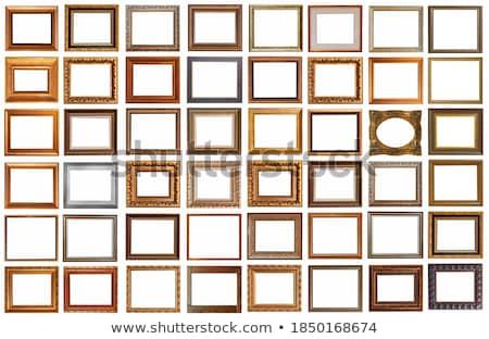 empty old vintage art frame on white background stock photo © manera