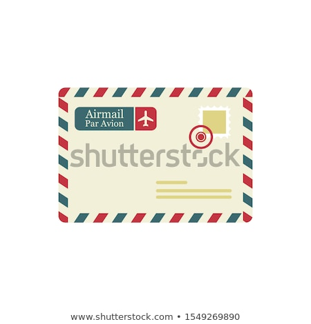 powietrza · mail · kopercie · wektora · cartoon · retro - zdjęcia stock © nickylarson974