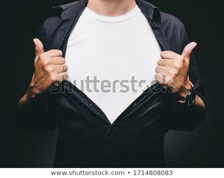 Homme blanche tshirt espace de copie up design graphique Photo stock © stevanovicigor