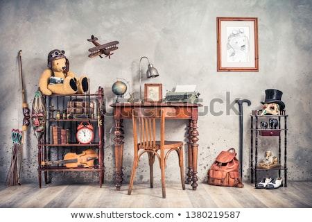 still life with old violins and camera stock photo © user_9834712