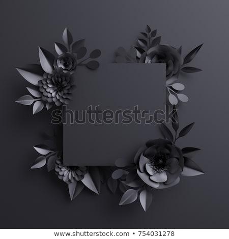 Black flower templates Stock photo © bluering