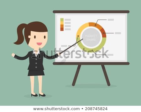iş · kadını · işaret · grafik · finanse · analitik · örnek - stok fotoğraf © Evgeny89