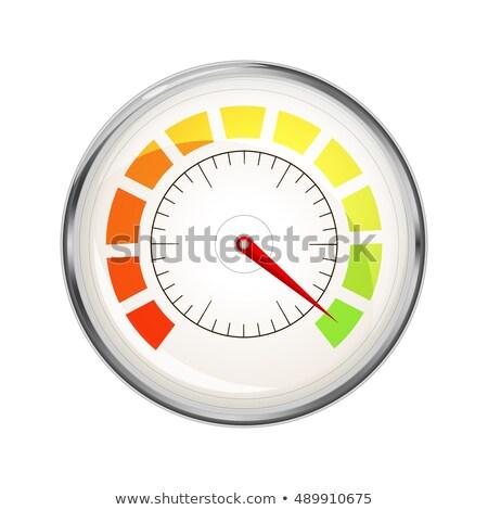 цвета · вектора · индикатор · зеленый · спидометр · исполнении - Сток-фото © evgeny89