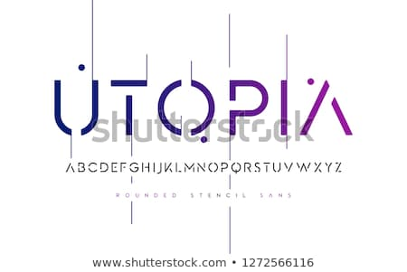 Font design for english alphabets Stock photo © bluering
