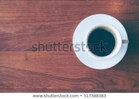 A topview of a table with a coffee stain Stock photo © bluering