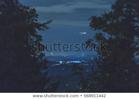 Jet тропе здании Blue Sky стекла Сток-фото © ldambies