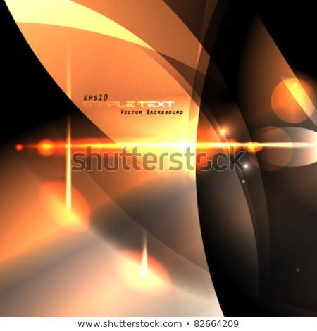 Amarillo caliente luz efecto eps 10 Foto stock © beholdereye