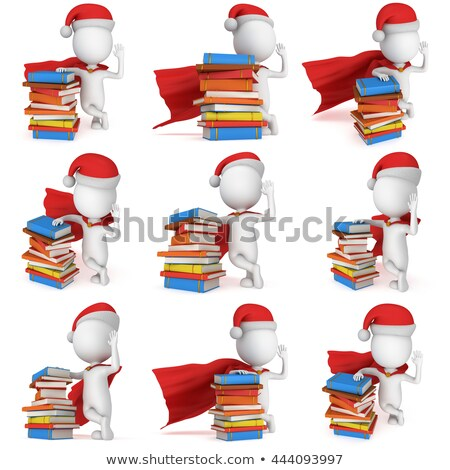 3d small people   super santa stock photo © anatolym