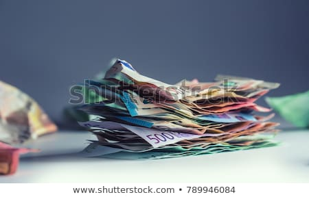 euro · notas · novo · dinheiro · verde · banco - foto stock © stevanovicigor