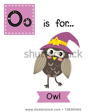 Flashcard letter O is for owl Stock photo © bluering