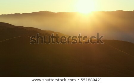 Zonsopgang woestijn Spanje snelweg een uniek Stockfoto © amok