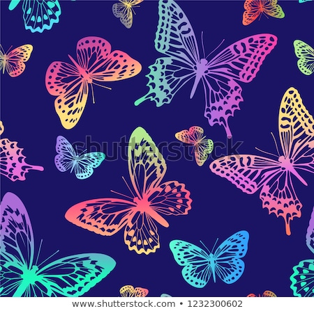 seamless pattern from butterflies stock photo © blackmoon979