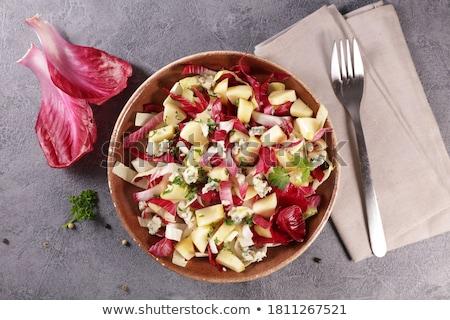 chicory salad with cheese and walnut stock photo © m-studio