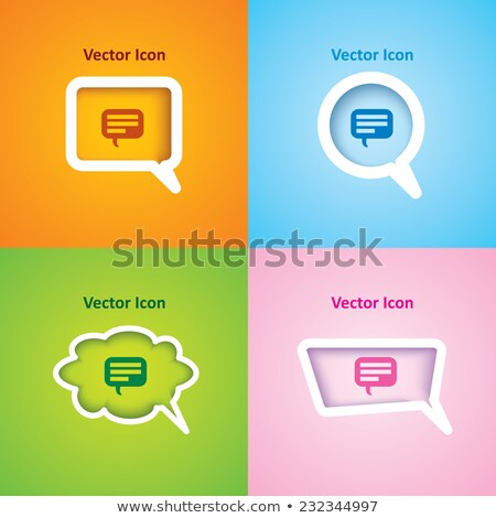 set of four chat bubble in different colors and shapes Stock photo © SArts