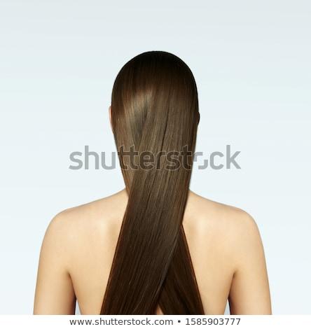 Beautiful girl sedoso loiro cabelo belo mulher jovem Foto stock © svetography