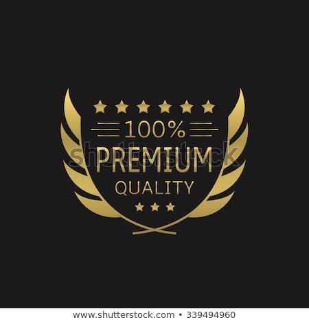 Prémium minőség címkék arany babér legjobb Stock fotó © viewpixel
