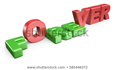 Palavra para sempre letra f para baixo em pé 3D Foto stock © djmilic