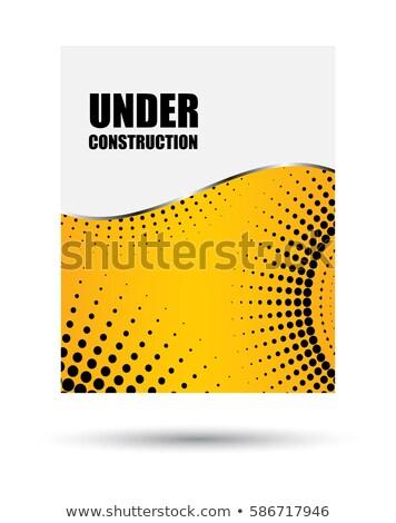 Vektör broşür şablon dizayn inşaat noktalı Stok fotoğraf © place4design