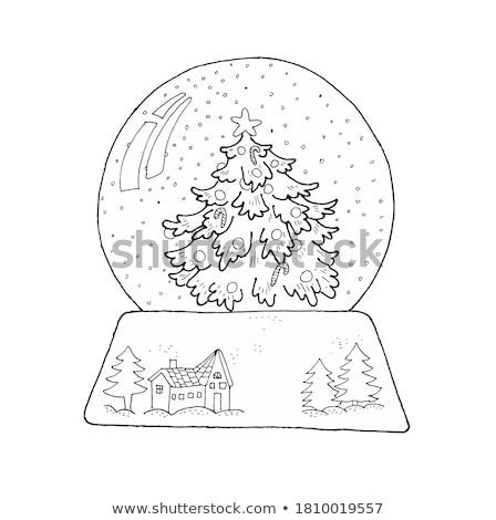 Symbol Weihnachtsbaum.Schnee Welt Weihnachtsbaum Skizze Symbol Vektor Vektor