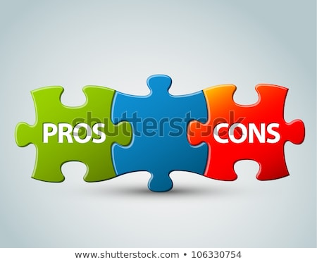 Pros Cons Jigsaw Puzzle Concept Stock photo © ivelin