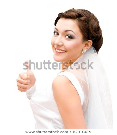 小さな 花嫁 見える カメラ 結婚式 日 ストックフォト © dariazu