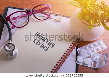 Stock photo: Healthy living science backgrround