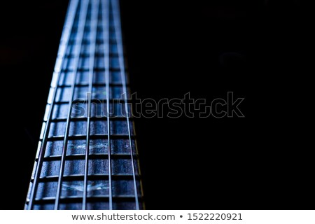 detail of electric bass cords and frets stock photo © diego_cervo