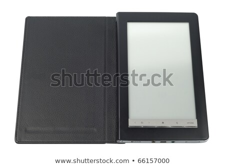 ebook reader over black background stock photo © koufax73