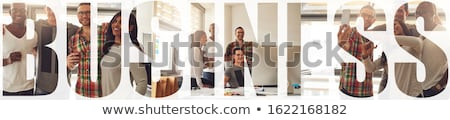 Adam iş girişimcilik fotoğraf kolaj ahşap Stok fotoğraf © stevanovicigor