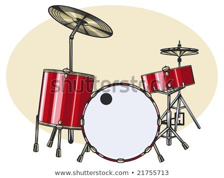 Pièce tambour instrument de musique illustration cinquième Photo stock © jeff_hobrath
