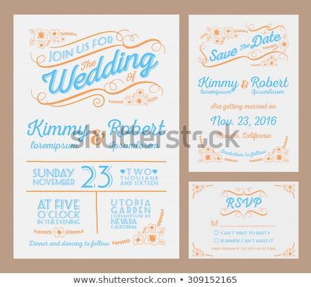 wedding invitation, rsvp and thankyou card design template Stock photo © SArts