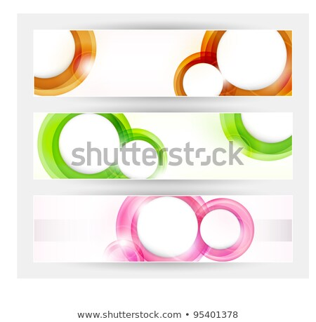 Trendy Circular Banner Shapes With Space For Your Text Zdjęcia stock © wenani
