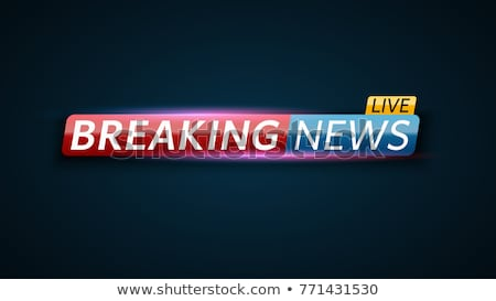 Breaking news poster. Mass media. Vector illustration. Stock photo © Leo_Edition