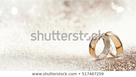 wedding rings bands wedding invitation template photo stock © krisdog