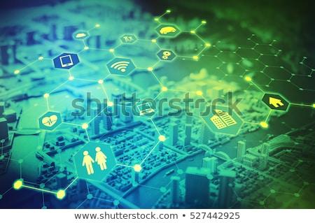 internet network communication with tablet stock photo © alphaspirit