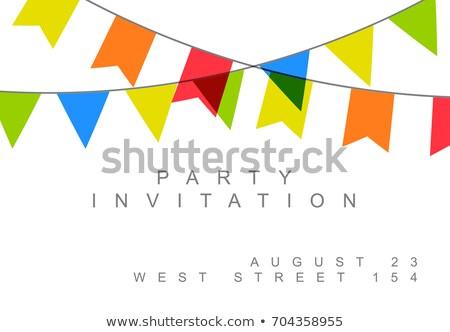 Happy birthday party minimalist card ivitation Stock photo © orson