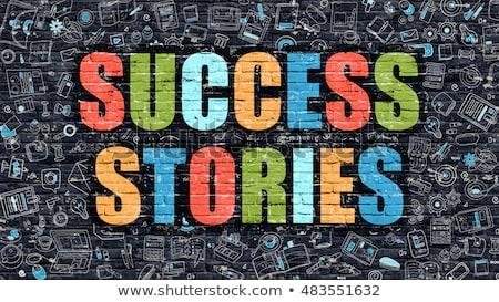 Success Stories Concept with Doodle Design Icons. Stock photo © tashatuvango
