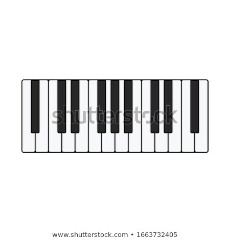 Grand Piano Vector. Realistic Black Grand Piano Top View. Isolated Illustration. Musical Instrument. Stock photo © pikepicture